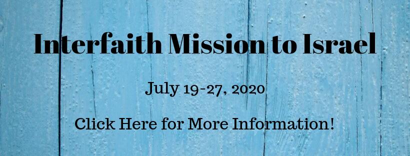 Interfaith Mission to Israel Website Slider