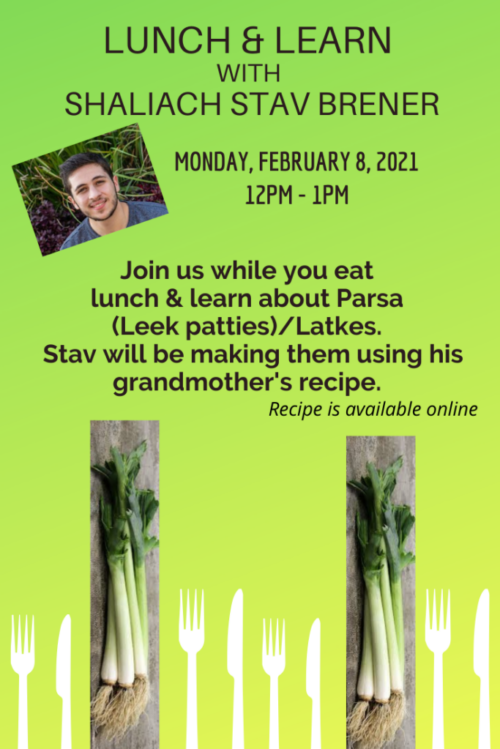 Lunch & Learn with Shaliach Stav_2.8.21_flyer_1.11.21