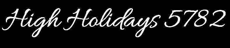 High Holidays 5782